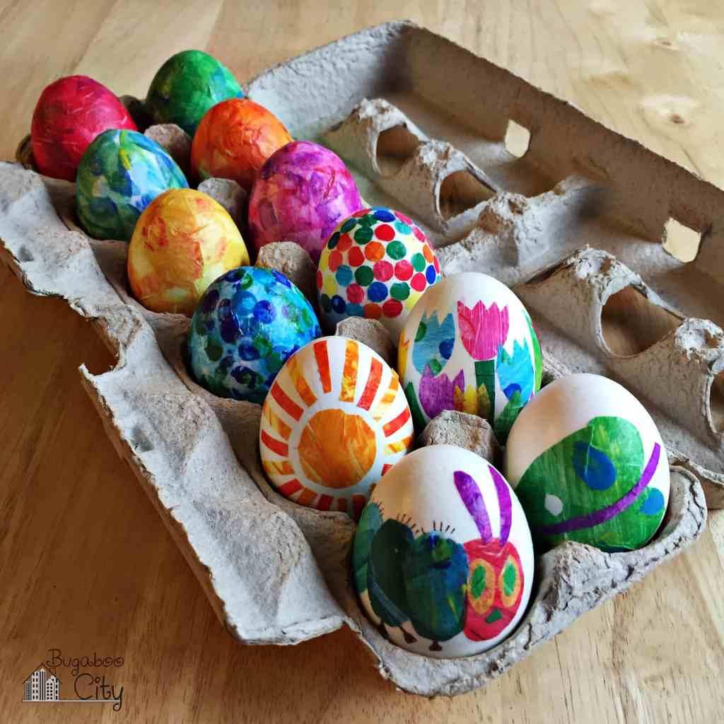 eieren kleuren met kleurstof